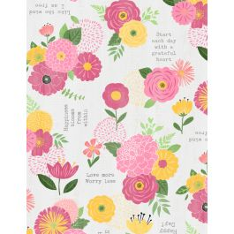 Keep Shining Bright Floral Sentiments Lt Gray