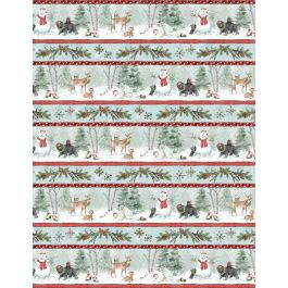 Woodland Friends Repeating Stripe 96444-431