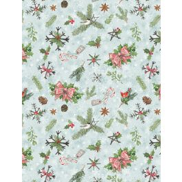 Woodland Friends Teal Pinecones & Branches 96448-472