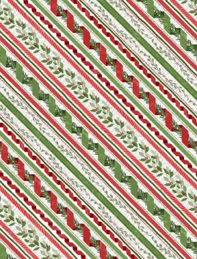 96449-137 Red Ticking Stripe Woodland Friends