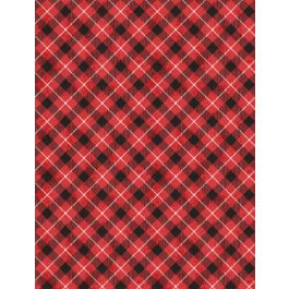 Woodland Friends Red Check 96451-391