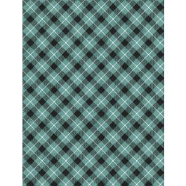 Woodland Friends Teal Check 96451-491