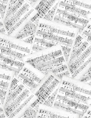 Interlude Sheet Music White/Gray