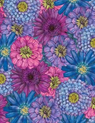 GREEN W/ BIG FLOWERS 3014 74202 645