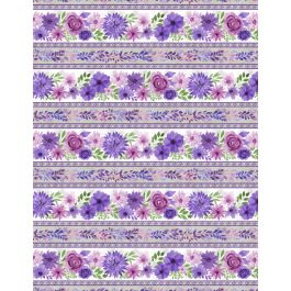 AMETHYST MAGIC BORDER STRIPE MULTI