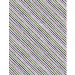 Wilmington Amethyst Magic Diagonal Stripe - Green/Purple (Min order 1m)