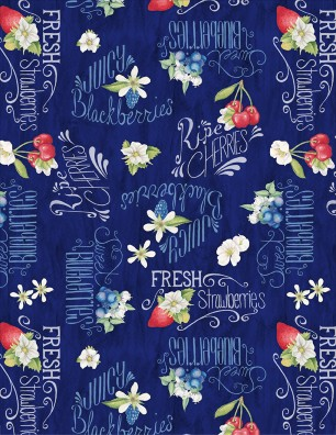 Dark Blue Berries Words<br>13003-431