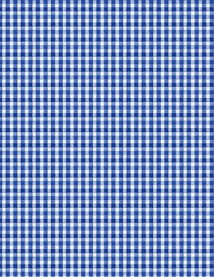 Berry Sweet Blue Gingham