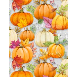 Pumpkin all over Gray - Happy Gatherings