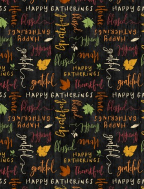 Happy Gatherings - Word Toss Black