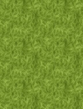 Tonal Leaf Toss Green