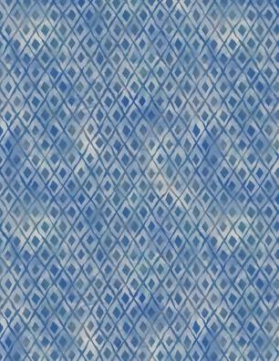 Wilmington Forest Dance Diamonds - Blue (1.2m Remnant)