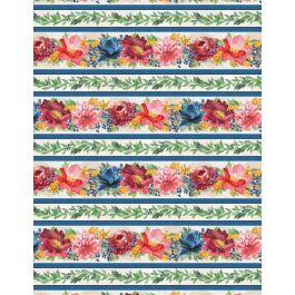 Garden Charm 83302 413 Repeating Stripe Multi