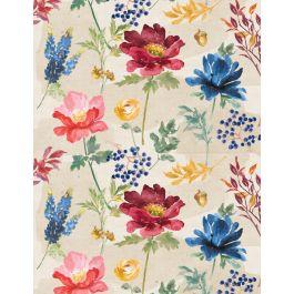 Garden Charm 83303 134 Large Floral Cream