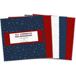 All American 5 inch charm  (24 Pieces) - Wilmington Prints