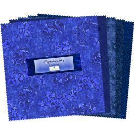 Sapphire Sky Blue (42) 10-inch Squares, Essential Gems