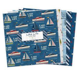Lake Life 10 Square Fabric Packs
