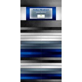 Ombre Washart Blue Steel - 40 Karat Gems 2 1/2 strips