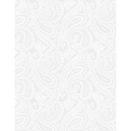 Essentials White on White Paisley 108