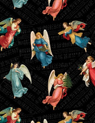 F-CB-WIL-AGL-03 Wilmington-AGL - Angel Song-03-Black w/ Christmas Angels