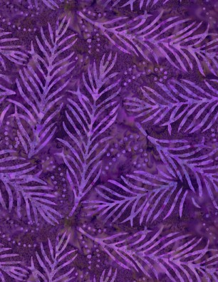 Delicate Fronds 108 Wide Backing - Purple