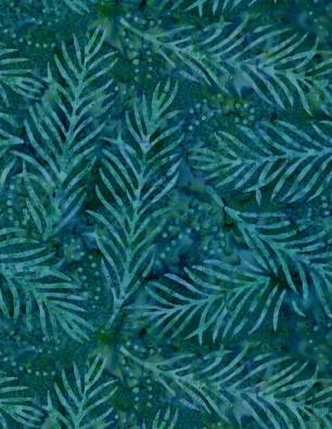 Delicate Fronds 108in Wide Back - Dark Green