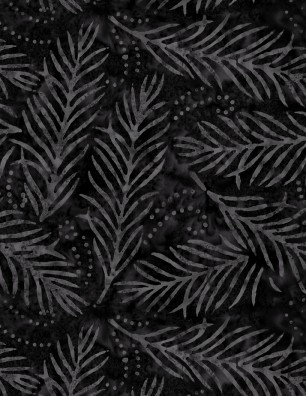 Wilmington Black Batik w  fern