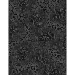 Essential Scrolls Black by Wilmington Prints