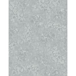 Essentials Scroll in Grey by Wilmington Prints