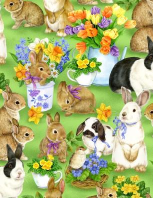Garden Gathering Bunnies