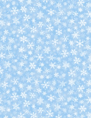 BRINGING HOME CHRISTMAS BLUE WITH WHITE SNOWFLAKES 68818-411
