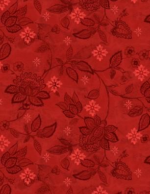 Scarlet Prints Red Floral