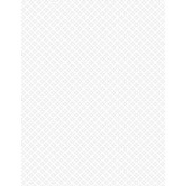 Wilmington Essentials White Lite Diagonal Daisies - White/White (0.5m Remnant)