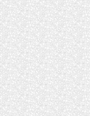Tiny Garden Outline White on White