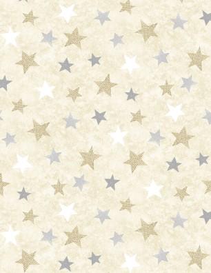WILMINGTON HOLIDAY MEADOW CREAM W/ GRAY & TAN STARS 70435 259