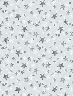 FRIENDLY GATHERING 96423 991 GRAY WITH SLIVER STARS