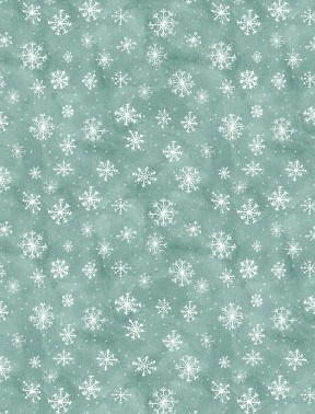 FRIENDLY GATHERING 96425 414 GREEN WITH SNOWFLAKES