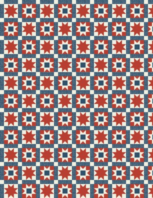 Land of Liberty Red & Blue Star Blocks