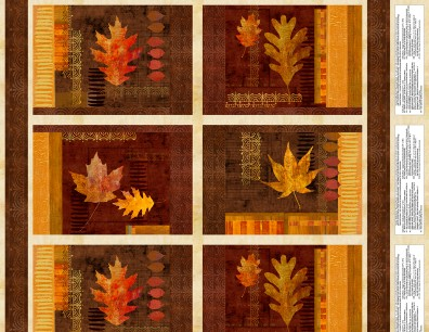 AMBER REFLECTIONS PLACEMAT PANEL 24044-258