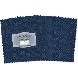 507 31 507  In The Navy   5 Inch squares  42 per pack