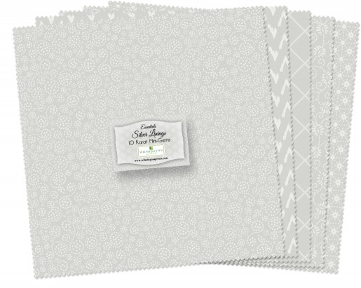 Essentials Silver Linings 10 Squares, 42 Count
