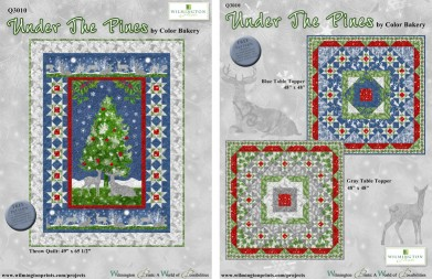 Under the Pines Blue Table Topper Quilt Kit