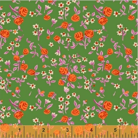 mousies floral in kelly