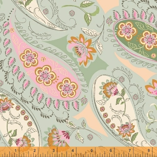 50931 2 Blythe by Sophia Santander for Windham Fabrics. 100% cotton 43 wide