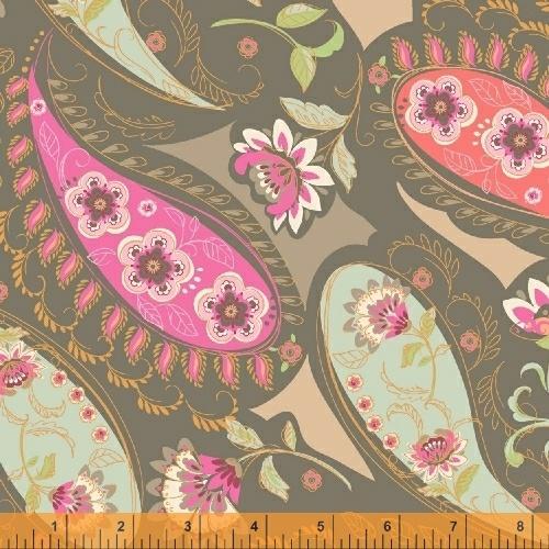 50931 3 Blythe for Sophia Santander for Windham Fabrics. 100% cotton 43 wide