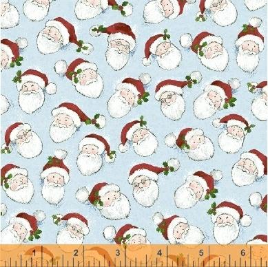 Holly Jolly Christmas Santa faces on Ice 51170-1