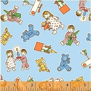 Candy Cane Lane Christmas Morning Blue 51261-2