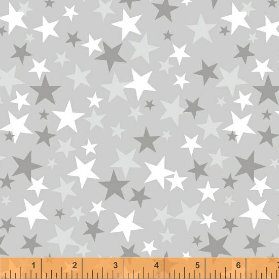 Windham Fabrics - Monster Trucks Stars Lt Grey