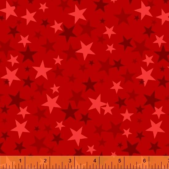 Windham Fabrics - Monster Trucks Stars True Red