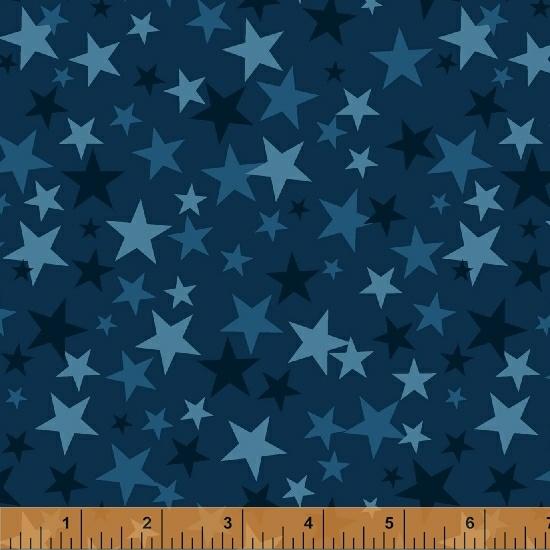 Windham Fabrics - Monster Trucks Stars Navy